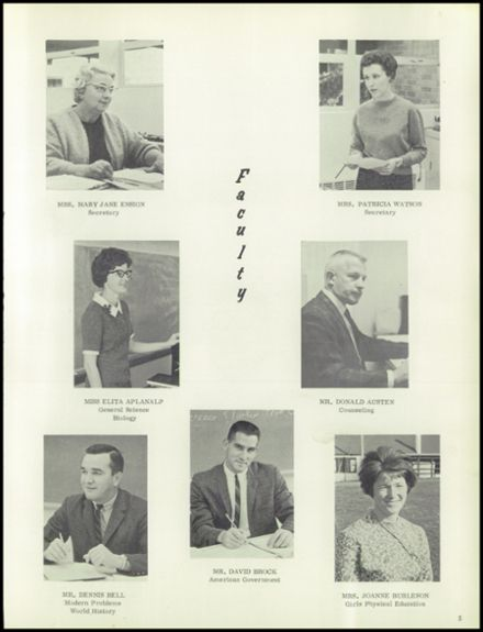 1966 Canby Union High School Yearbook Page 9
