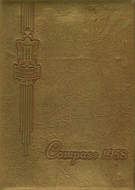 1958 Wheaton College Academy Yearbook Cover
