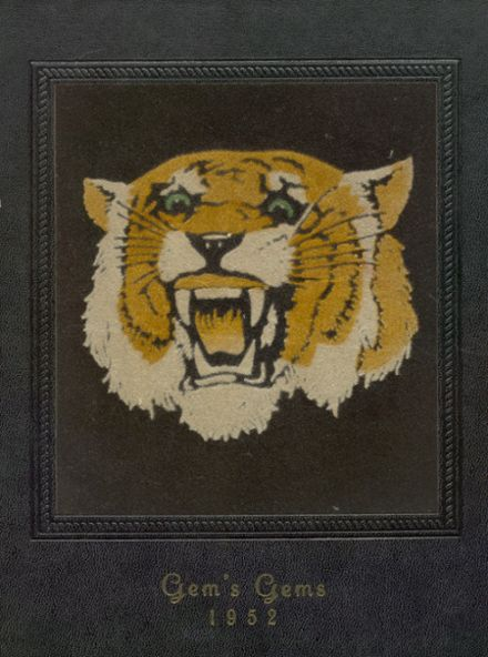 1952 Gem Consolidated School Yearbook Cover