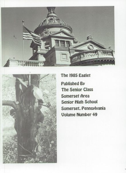 Explore 1985 Somerset Area High School Yearbook, Somerset PA