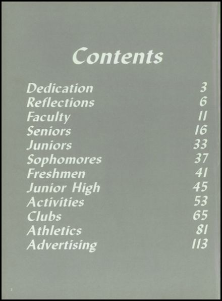 1985 Fall River High School Yearbook Page 6