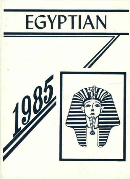 1985 Egyptian High School Yearbook Cover