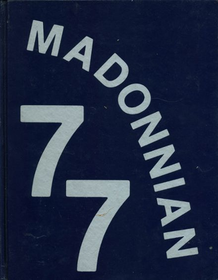 1977 Madonna High School Yearbook Cover