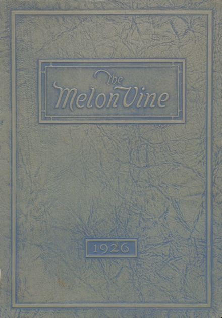 1926 Weatherford High School Yearbook Cover