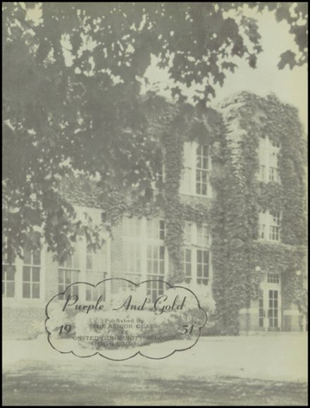1951 Onsted High School Yearbook Page 5