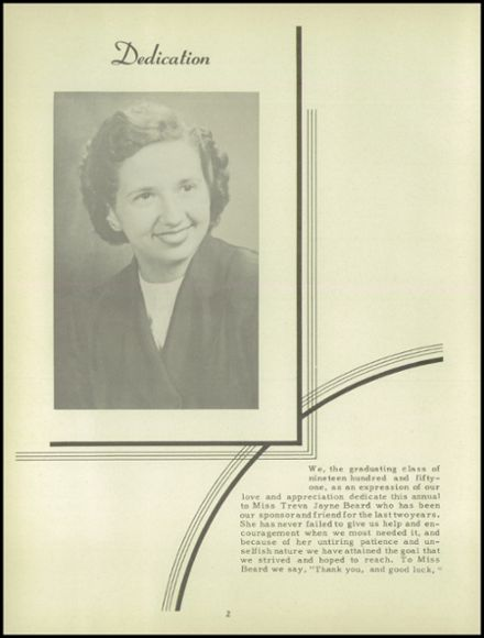 1951 Onsted High School Yearbook Page 6