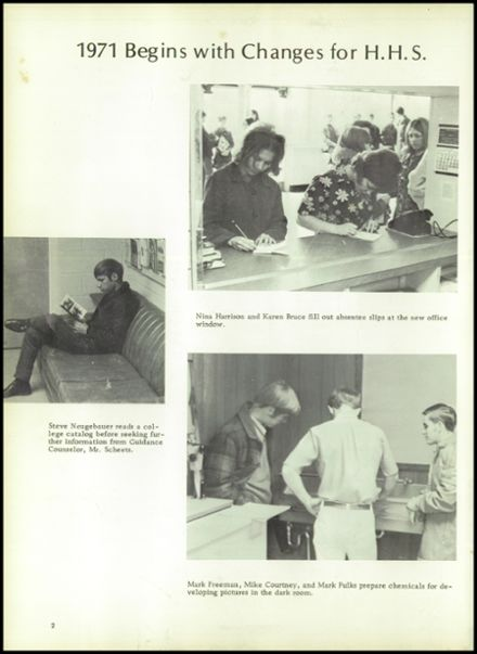 1971 Houston High School Yearbook Page 6
