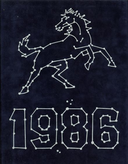 1986 Tulare Western High School Yearbook Cover