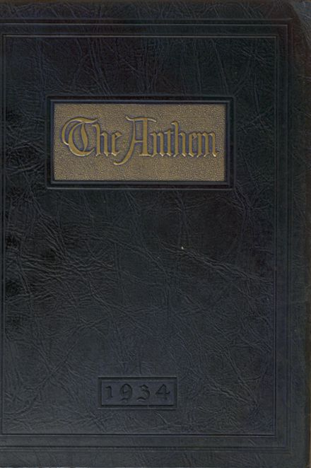 1934 Brentwood High School Yearbook Cover