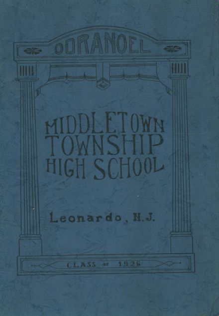 1926 Middletown Township High School Yearbook Cover