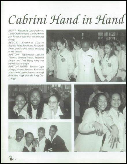 2001 Mother Cabrini High School Yearbook Page 6