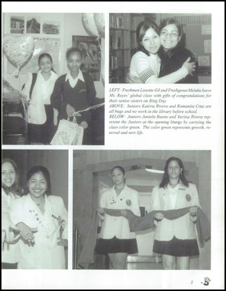 2001 Mother Cabrini High School Yearbook Page 7