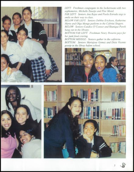 2001 Mother Cabrini High School Yearbook Page 9