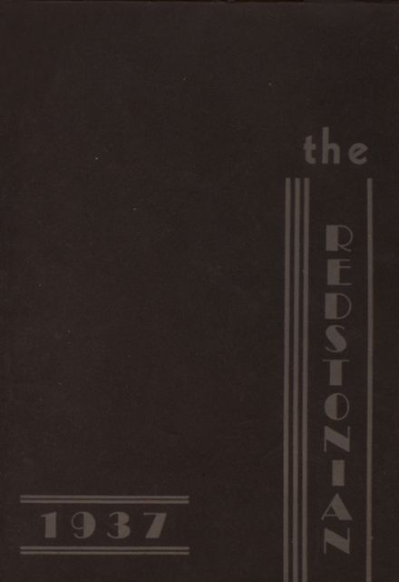 1937 Redstone Township High School Yearbook Cover