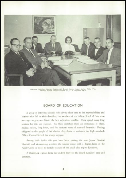 1965 Albion High School Yearbook Page 8
