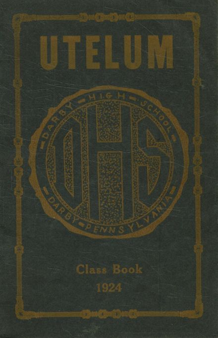 1924 Darby High School Yearbook Cover