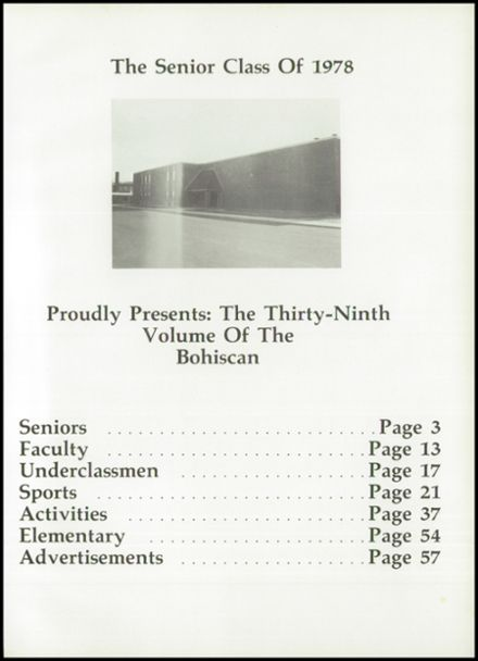 1978 Bowler High School Yearbook Page 5