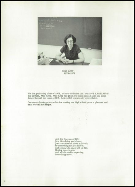 1978 Bowler High School Yearbook Page 6