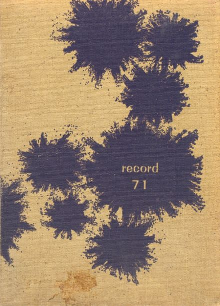1971 Young High School Yearbook Cover