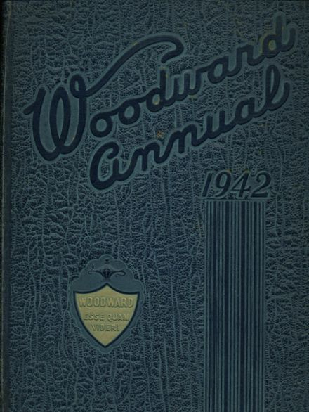 1942 Woodward High School Yearbook Cover