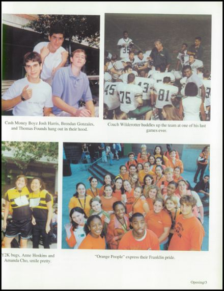 2000 Benjamin Franklin High School Yearbook Page 7