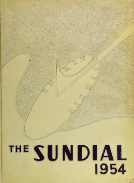 1954 Sunset High School Yearbook Cover