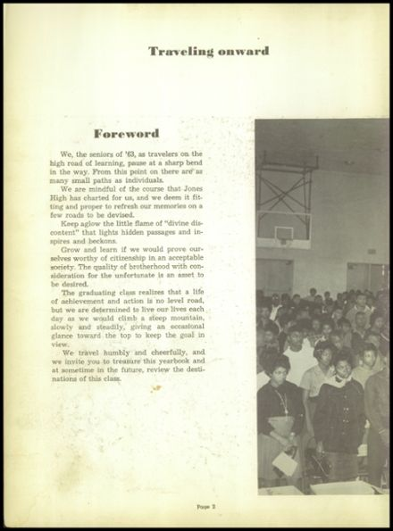 1963 Jones High School Yearbook Page 6