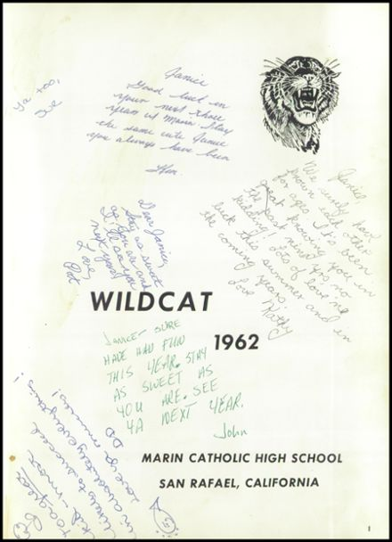 1962 Marin Catholic High School Yearbook Page 5