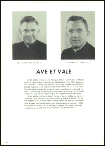 1962 Marin Catholic High School Yearbook Page 8