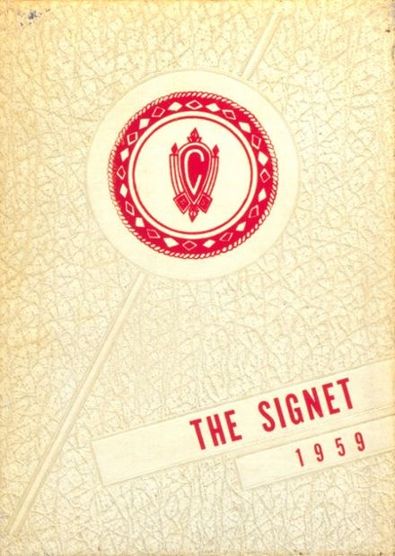 1959 Charlotte Catholic High School Yearbook Cover