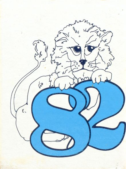1982 United High School Yearbook Cover