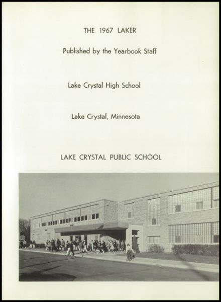 1967 Lake Crystal High School Yearbook Page 5