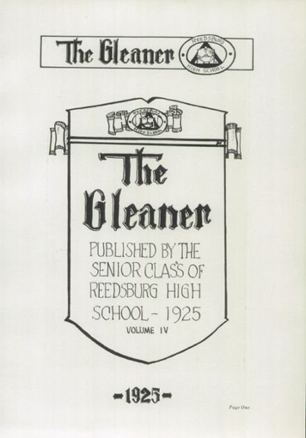 1925 Reedsburg High School Yearbook Page 9