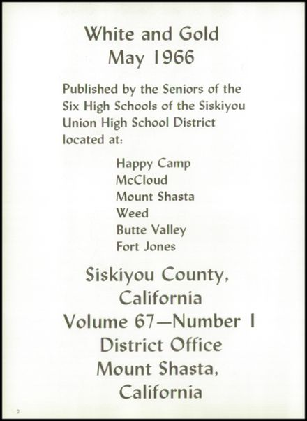 1966 Happy Camp High School Yearbook Page 6