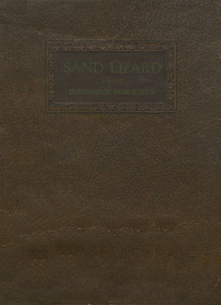 1930 Dardanelle High School Yearbook Cover
