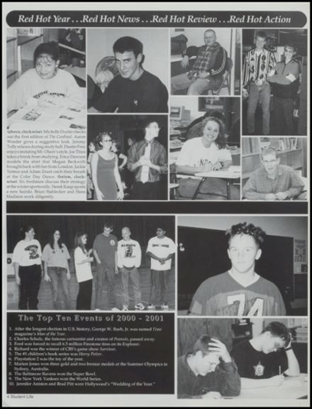2001 Albion High School Yearbook Page 8