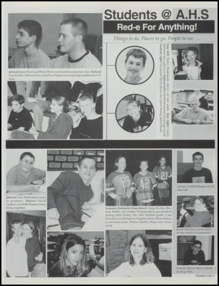 2001 Albion High School Yearbook Page 9