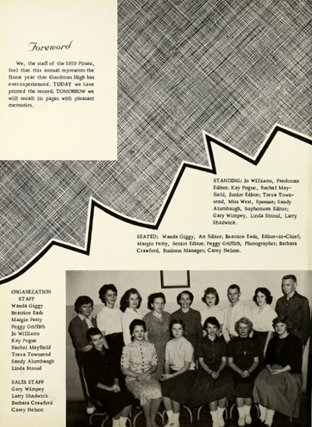 1959 Goodman High School Yearbook Page 6
