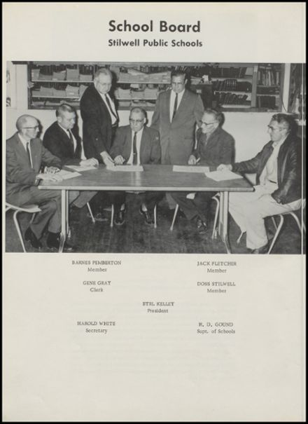 1964 Stilwell High School Yearbook Page 9