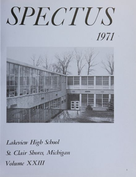 Explore 1971 Lakeview High School Yearbook, St  Clair Shores