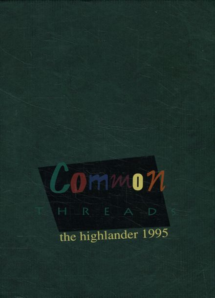 1995 Highland Park High School Yearbook Cover