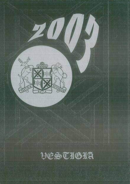 2003 Winchendon School Yearbook Page 1