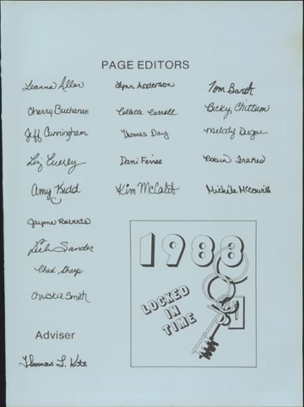 1988 Junction City High School Yearbook Page 3