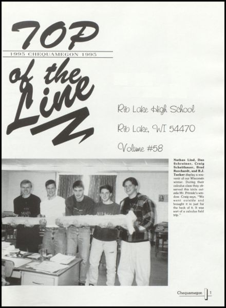1995 Rib Lake High School Yearbook Page 5