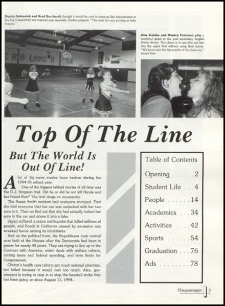 1995 Rib Lake High School Yearbook Page 7