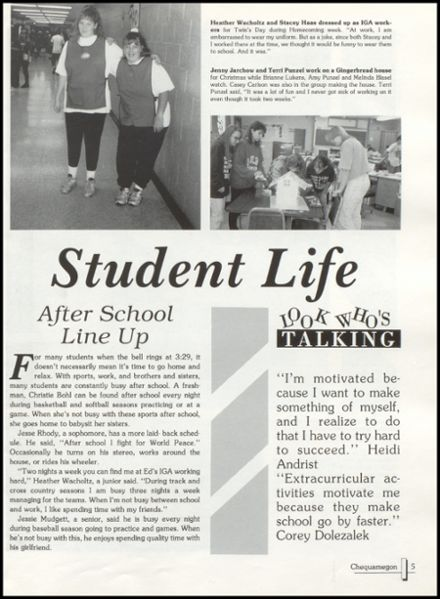 1995 Rib Lake High School Yearbook Page 9