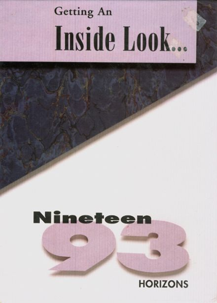 1993 Beaumont Christian High School Yearbook Cover