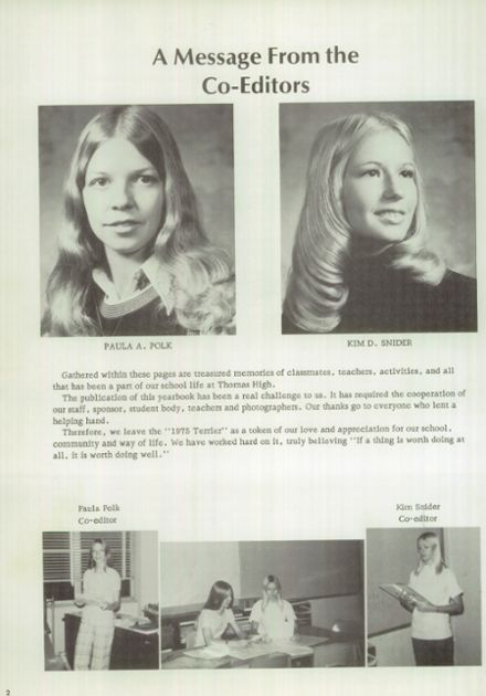 1975 Thomas High School Yearbook Page 6