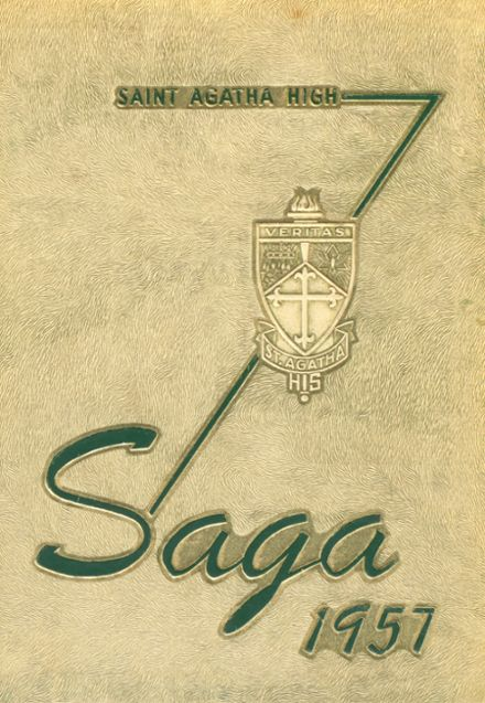1957 St. Agatha School Yearbook Cover