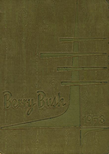 1958 Cranberry High School Yearbook Cover
